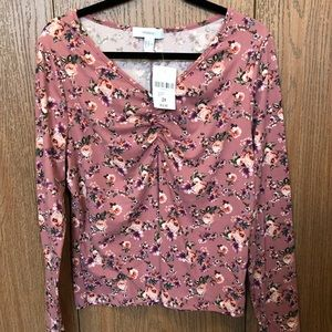 NWT Super soft Forever 21 floral long sleeved top